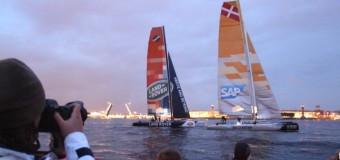 В Санкт-Петербурге стартовала парусная регата Extreme Sailing Series