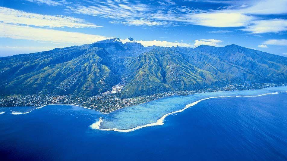 Современный вид островов Таити
