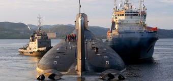 35 лет  назад в Северодвинске спущена на воду самая большая подлодка в мире
