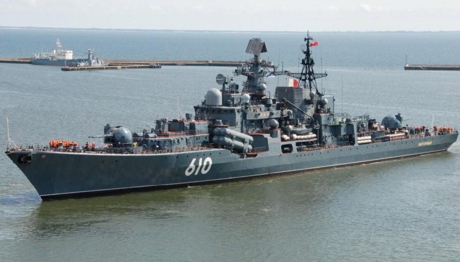"Флагман Балтийского флота - миноносец ""Настойчивый"""