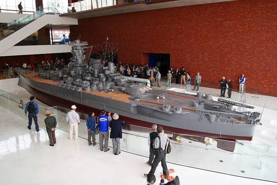 Модель линкора «Ямато» в экспозиции морского музея в Куре