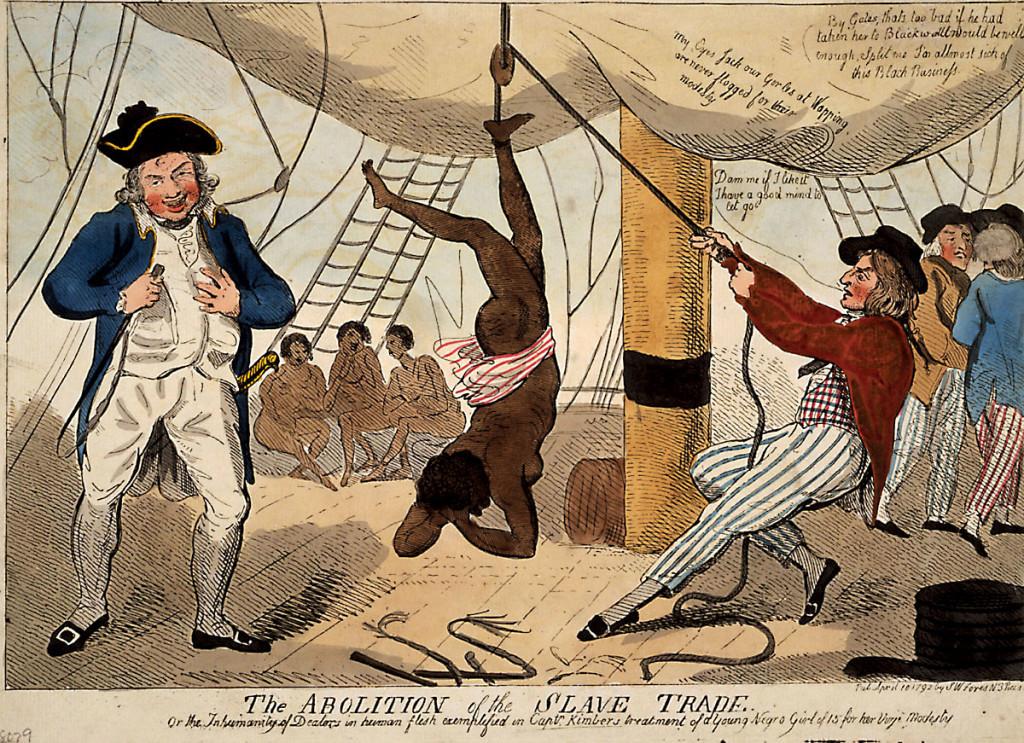Наказание провинившейся невольницы на судне-работорговце