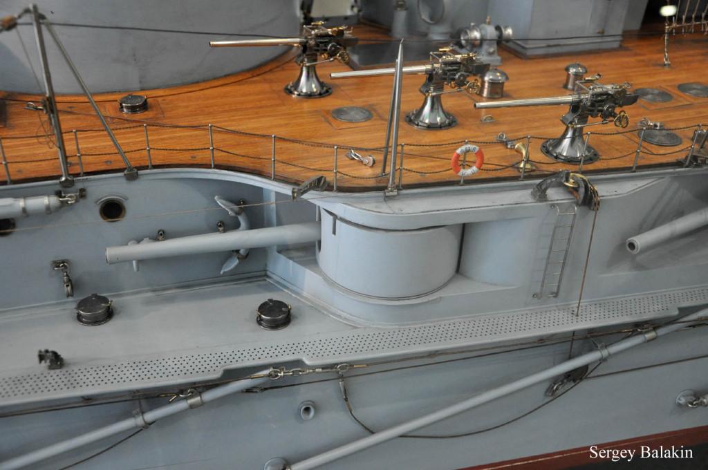 Модель дредноута «Вирибус Унитис», вид с левого борта