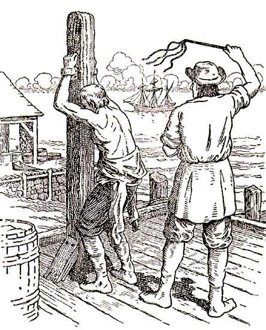 Наказание «кошкой» на борту судна и на берегу