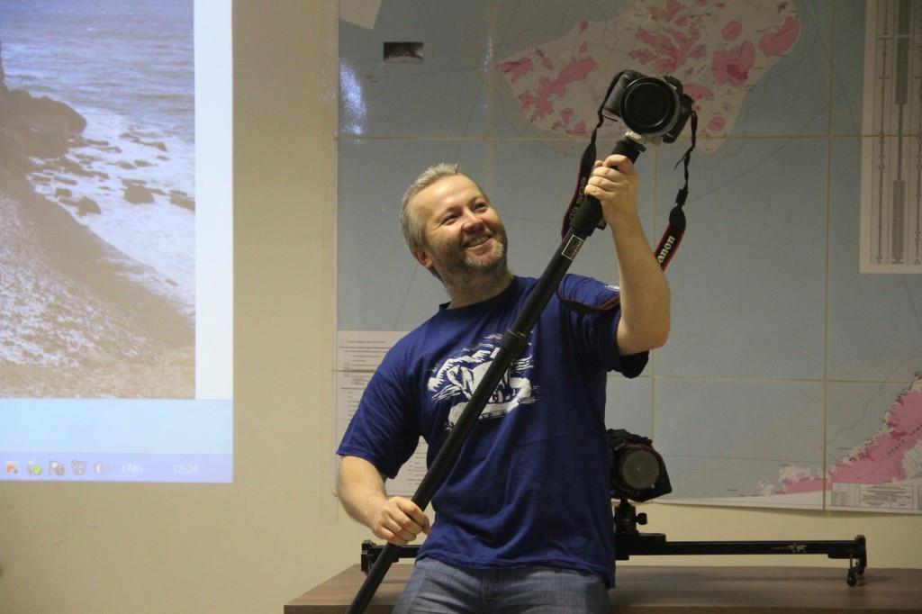 Николай Гернет рассказал о технической стороне съёмки в Арктике. Фото - Юлия Петрова