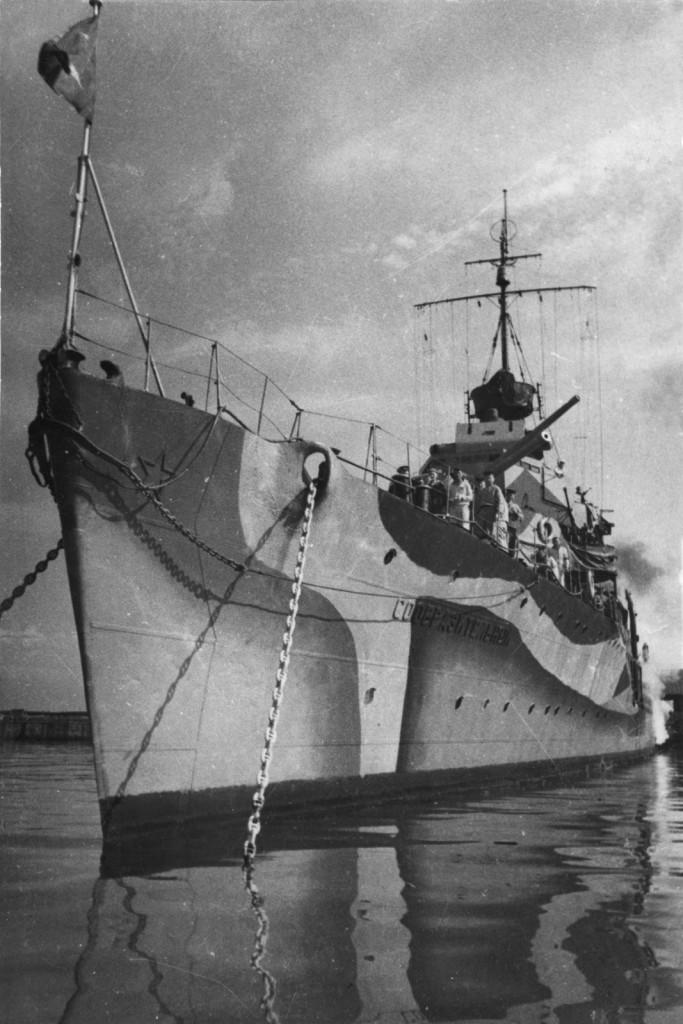 Эсминец Черноморского флота «Сообразительный» - один из немногих обладателей «градиентной» окраски, в которой тёмные тона плавно переходили в светлые