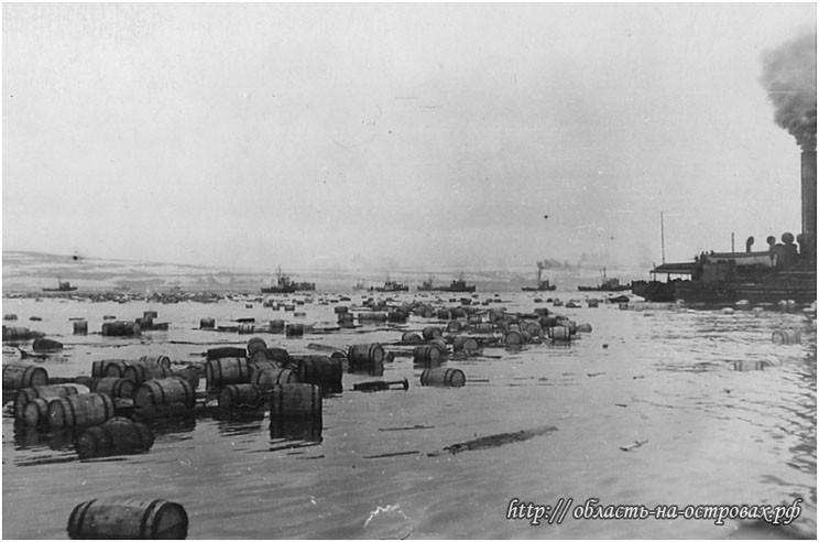 Город Северо-Курильск после цунами, 5 ноября 1952 г.