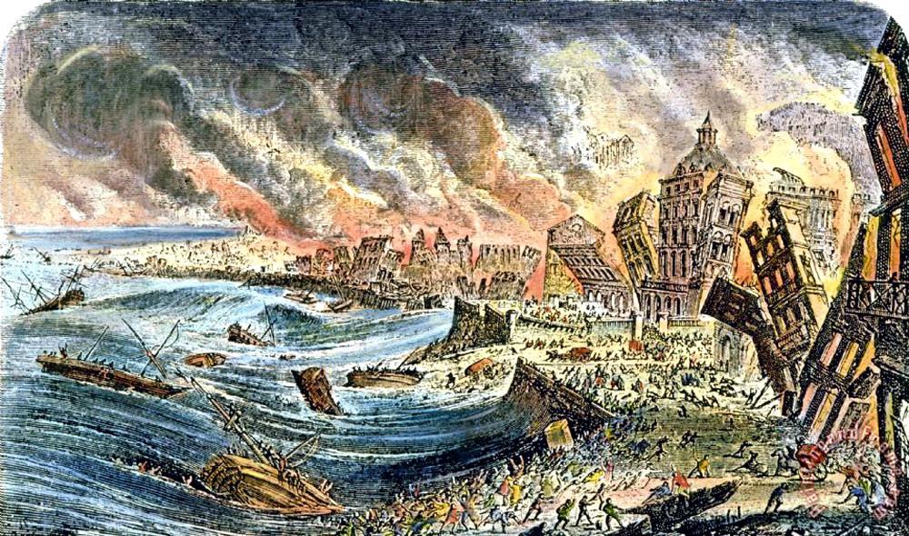 Землетрясение и цунами в Лиссабоне, 1755 г.