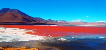Разноцветные озера планеты.