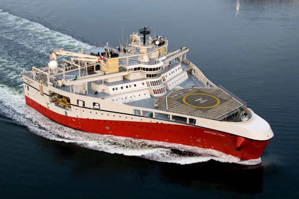 Самое широкое в мире судно – «Ramform Titan»