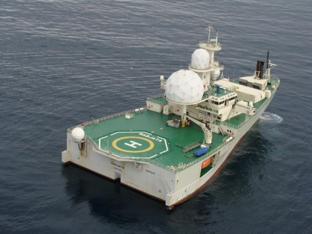 «Marjata» оборудована площадкой для вертолёта, но ангара не имеет