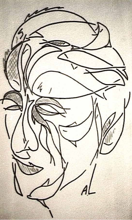 Портрет Жака-Ива Кусто работы Андрэ Лабана