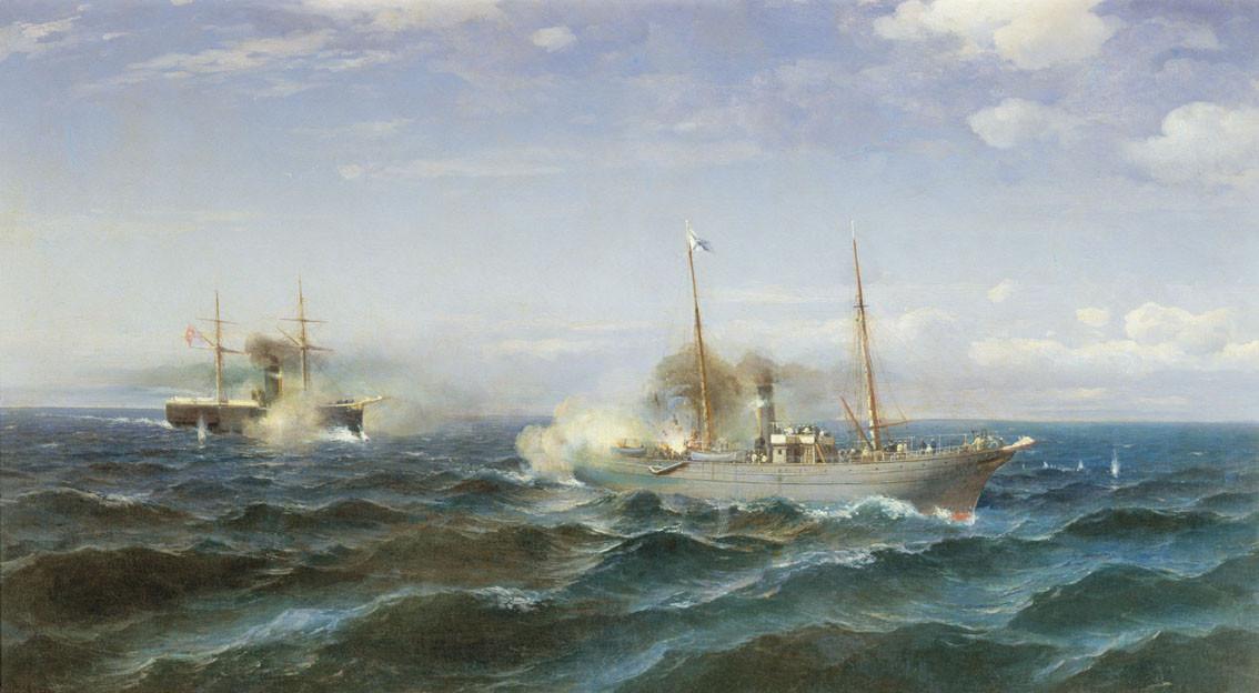 Naval_battle_between_-Vesta-_and_-Fetkh-i_Bulend-_at_the_Black_Sea,_July_11,_1877