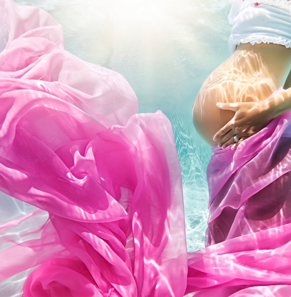 Подводные фотографии беременных от Адама Оприса 8