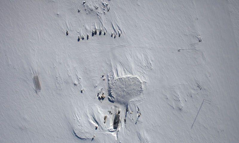 """Российская исследовательская станция """"Восток"""" Russian Research Station located in Princess Elizabeth Land, East Antarctica: NASA"""