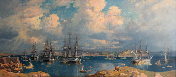 Эскадра контр-адмирала М. П. Лазарева на Константинопольском рейде