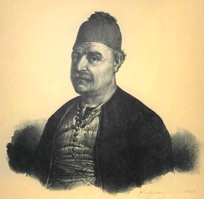 Адмирал Андреас-Вокос Миаулис- ещё один греческий герой войны 1821-1828 гг.