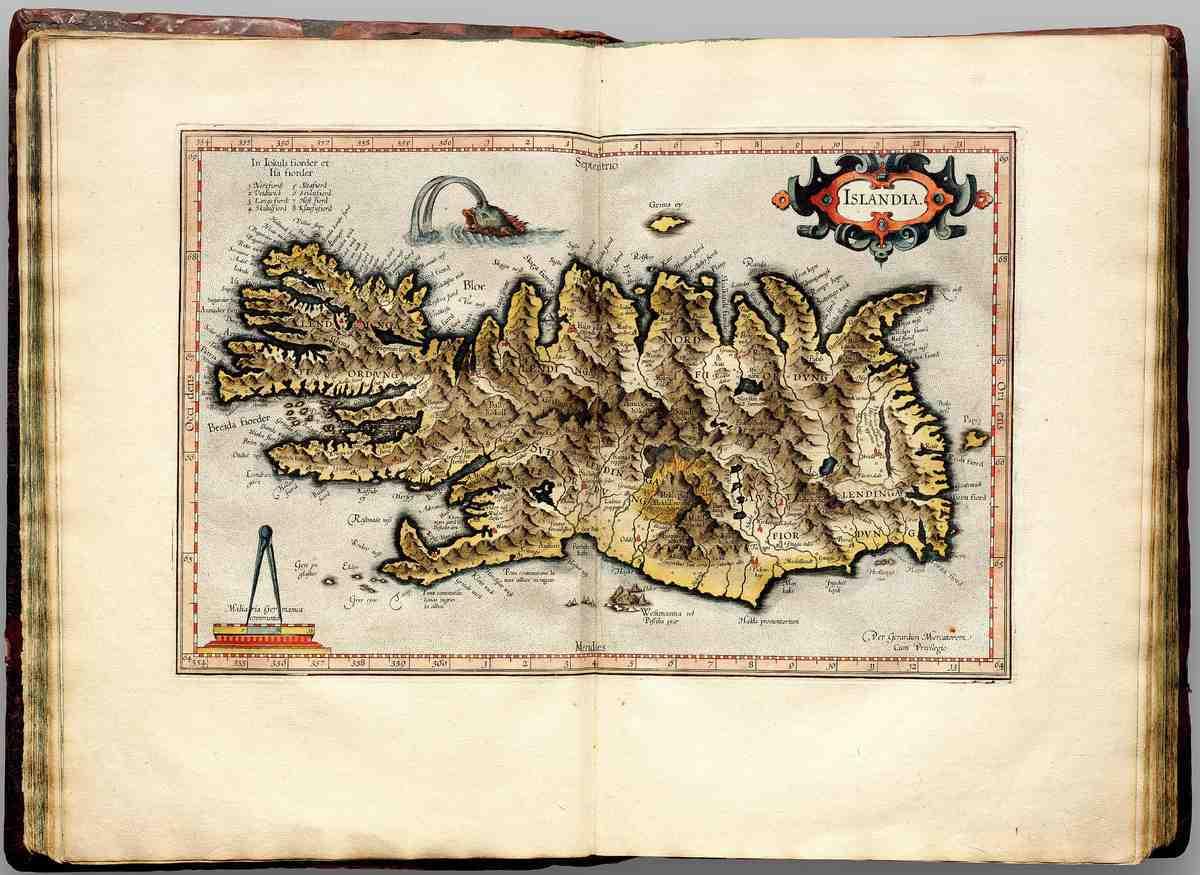Исландия в атласе Джерарда Меркатора 1595 год