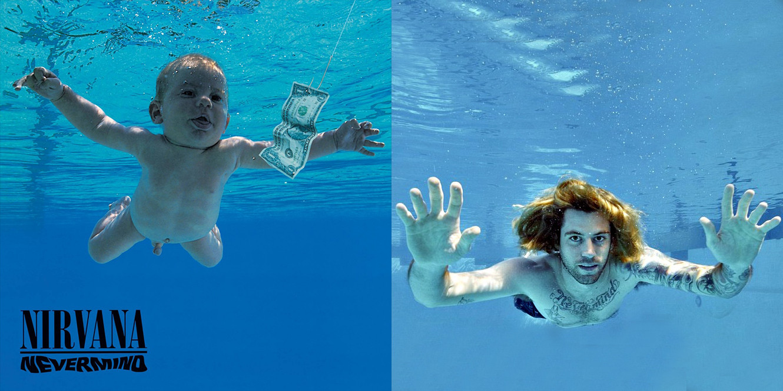 Ребенок с обложки альбома Nirvana снова снялся в бассейне