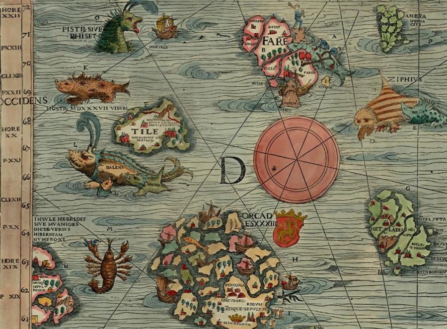 Сказочная страна. остров Туле на древних картах.