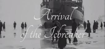 Прибытие ледокола. Хельсинки. 1920 год