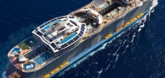 Первое плавание крупнейшего в мире круизного лайнера.