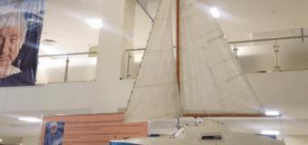 В Махачкале  установили яхту легендарного путешественника Евгения Гвоздева.