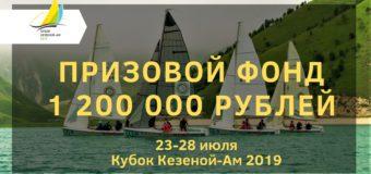 Призовой фонд Кубка Кезеной-Ам 2019 составит 1,2 миллиона рублей