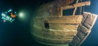Дайверы нашли деревянный парусник XVII века на дне Финского залива