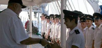 Учебный парусник Росморпорта «Херсонес» принял на борт новых курсантов