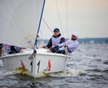 На Пироговском водохранилище прошел первый этап Чемпионата Ассоциации Национального класса гоночных килевых яхт