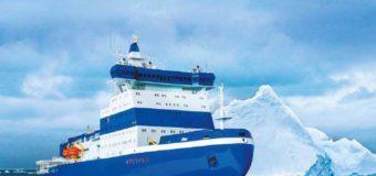 Атомный ледокол «Арктика» пройдет ледовые испытания в Дудинке
