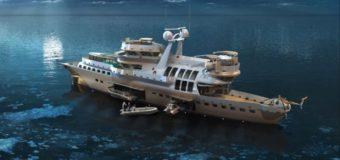 Представлен концепт 61-метровой научно-экспедиционной яхты ARCTIC OWL
