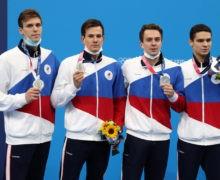 Российские пловцы выиграли серебро Олимпиады в эстафете 4х200 метров кролем